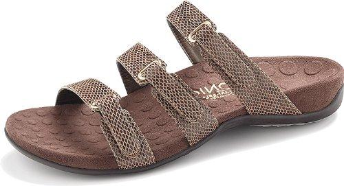 d41f9dcf2804 Vionic Aubrey - Womens Slide Sandals - Orthaheel Brown Snake - 7 - Buy  Online in Oman.