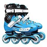 Professional Skates Shoes Fancy Single-Row Roller Skates Adult Inline Skates Universal Skating Rink Skates for Men and Women