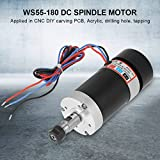 CNC Spindle Motor,WS55-180 400W Air Cooling Brushless DC Motor for DIY Engraving