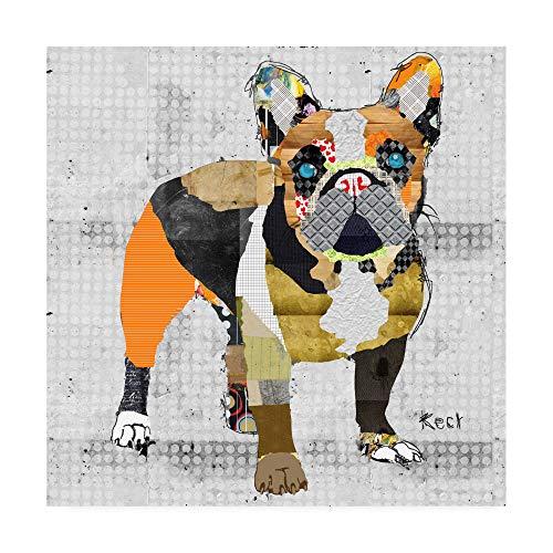 Trademark Fine Art French Bulldog Body by Michel Keck, - French Artwork Bulldog