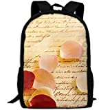 ZQBAAD Love Letter Luxury Print Men And Women's Travel Knapsack