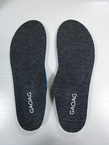 GAOAG Sports Insoles Shock-absorptation Breathable Shoe Insoles Plantar Fasciitis Feet Insoles High Arch Support Orthotics Insoles Inserts for Arch Pain, Flat Feet, High Arch