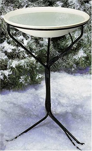 Allied Precision Industries (970) 20-Inch Diameter Heated Bird Bath with Metal Stand