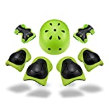 Kid's Protective Gear Set SKL Knee Pads for Kids Knee and Elbow Pads with Wrist Guards for Skating Cycling Bike Rollerblading Scooter (Helmet+Knee Pads+Elbow Pads+wrist Pads)