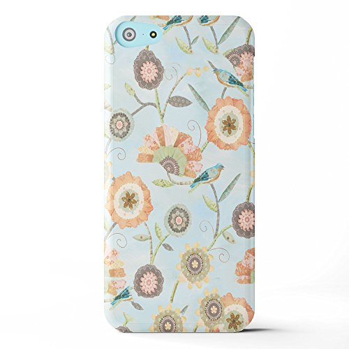 Koveru Back Cover Case for Apple iPhone 5C - Flower Scroll Coral