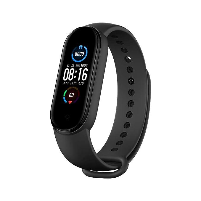 Xiaomi Mi Band 5 Global Pulsera con frecuencia cardíaca Fitness Música Bluetooth 5.0 Contador de Pasos y mensajería y…