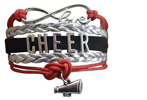 Infinity Collection Cheer Bracelet- Cheerleading Bracelet- Cheer Jewelry for Cheerleader]()