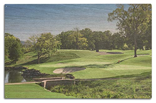 Lantern Press Golf Course Photography A-91230 (10x15 Wood Wall Sign, Wall Decor Ready to Hang)