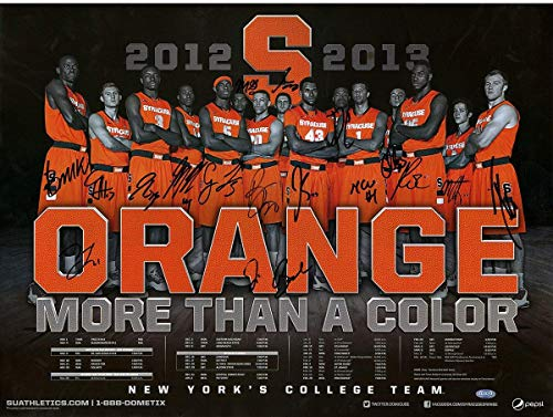 - 2012-2013 Syracuse University Basketball Team Signed Roster Lineup/Schedule 18x24 Photo (16 Signatures) - Steiner Sports Certified