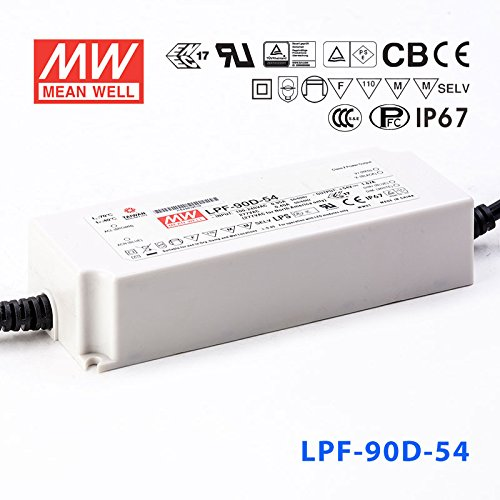 Meanwell LPF-90D-54 Power Supply - 90W 1.67A - Dimmable