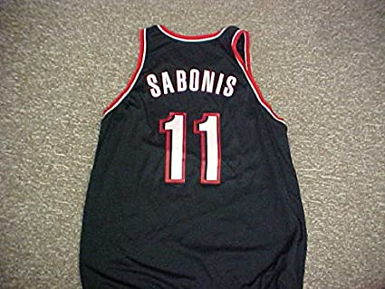 sports shoes a6623 a1e4b Arvydas Sabonis. Portland Trail Blazers Nike Black Game ...