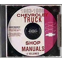 Amazon gm chevy chevrolet truck pickup books 1963 1964 1965 1966 chevy pickup truck repair shop service manual cd panel platform suburban fleetside stepside light medium and heavy duty truck fandeluxe Images
