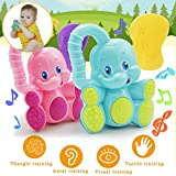 Dimanul Safety Baby Toddler Teether Hand Shake Bell Ring Funny Educational Elephant Toy Novelty Toys Toy Gifts Merry Christmas Toys Cool Toys Toys Chew Toys Kids