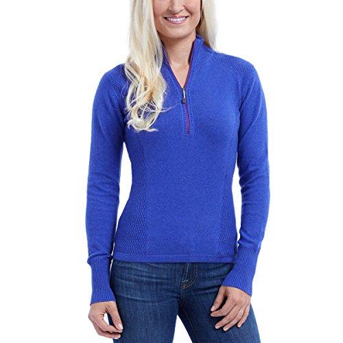 Eddie Bauer Ladies' Half Zip Pullover (Small, Blue)