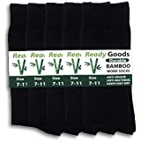 5 Pairs Ready Goods Mens Durable Bamboo Socks Black Odour & Bacteria Resistant