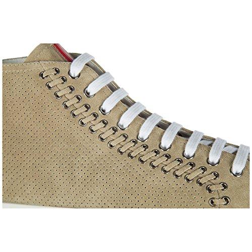 In Scarpe Prada Nuove Alte Sneakers Beige Donna Camoscio BSn8w6nqO