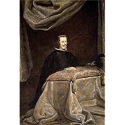 Oil Painting 'Velazquez Diego Rodriguez De Silva Y (Workshop) Felipe IV Orante Ca. 1655' 10 x 15 inch / 25 x 37 cm , on High Definition HD canvas prints, gifts for Foyer, Hallway And Living Ro decor