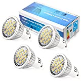 Elinkume 5W LED Gu10 light Bulb 110V, Warm White 3000k ,120 Degree Beam Angle ,Undimmable LED Soptlight bulb (4 Pack)