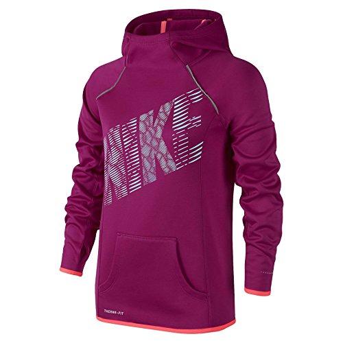 Nike Big Girls' (7-16) Therma-Fit Flash Pullover Hoodie-Sport Fuchsia-XS
