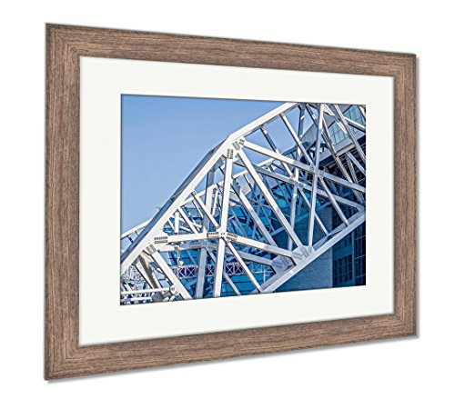 (Ashley Framed Prints April 2017 Arlington Texas ATT Nflcowboys Football Stadium, Wall Art Home Decoration, Color, 30x35 (Frame Size), Rustic Barn Wood Frame, AG6401341)