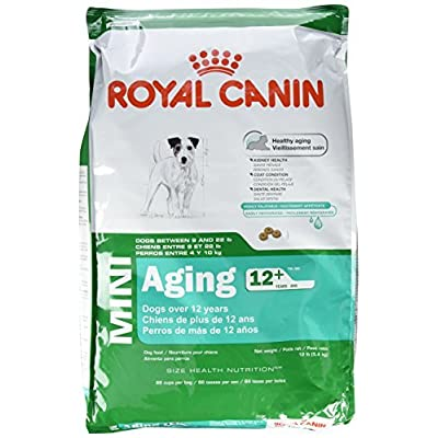 ROYAL CANIN SIZE HEALTH NUTRITION MINI Aging 12+ dry dog food, 12-Pound by Royal Canin