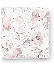 Aenne Baby Girl Floral Muslin Swaddle Blanket Cactus Purple Pink, Large 47 x 47 inch, 1 Pack, Baby Shower Gifts, Luxurious Soft and Silky Bamboo Cotton, Nursing Cover, Wrap