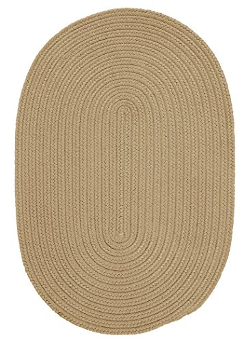 Boca Raton Polypropylene Braided Rug, 2-Feet by 3-Feet, Cuban Sand (Cuban Sand)