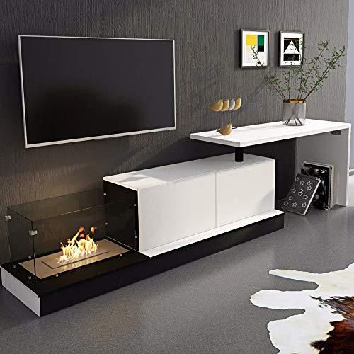 SelectionHome - Mueble salón escritorio y chimenea bioetanol ...