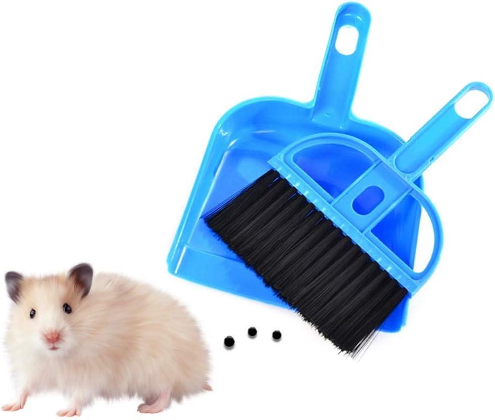LLZ shop Mini recogedor y Cepillo para Juguetes de Conejillo de Indias, Suministros de hámster para erizos, Escoba pequeña y recogedor para Ropa de Cama de hámster: Amazon.es: Productos para mascotas