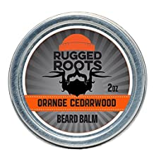 Beard Balm–Leave In Conditioner–Best Moisturizer for Dry Itchy Beard- Unique Gifts/Present for Men-All Natural Beeswax,Jojoba,Argon and Babassu Oils(Orange Cedarwood)