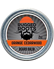 Rugged Roots Beard Balm and Leave In Conditioner, Softener and Moisturizer for All Hair Types. Unique Gift for Men, Father's Day Gift(Orange Cedarwood)