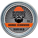 Beard Balm–Leave In Conditioner–Softener for Men and Moisturizer for All Hair Types-Unique Stocking Stuffer for Men-(Orange Cedarwood)