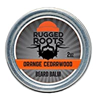 Beard Balm and Leave in Conditioner Softener and Moisturizer for All Hair Types, Unique Gift for Him(Orange Cedarwood)
