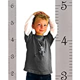 "wall hanging growth chart boy - Growth Chart Art | Wooden Hanging Height Chart for Kids, Boys and Girls | Gray Ruler with Black Numerals - 58"" x 5.75"""