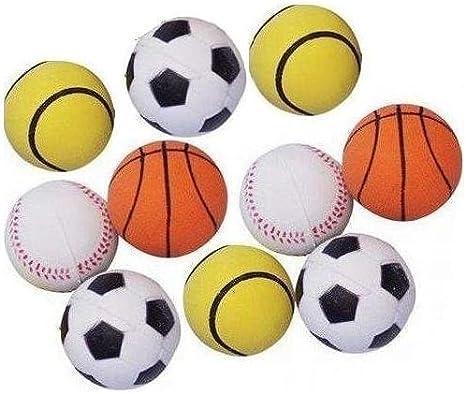 Juguetes para perros #: Juego de 10 bolas de goma con pelota de ...