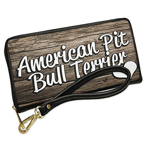 Wallet Clutch American Pit Bull Terrier, Dog Breed United States with Removable Wristlet Strap Neonblond by NEONBLOND