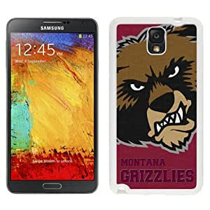 Fashionable And Unique Custom Designed With NCAA Big Sky Conference Football Montana Grizzlies 5 Protective Cell Phone Hardshell Cover Case For Samsung Galaxy Note 3 N900A N900V N900P N900T White