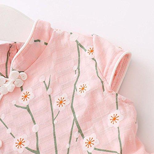 Sannysis Baby Kleider, Süße Baby Mädchen Prinzessin Floral Tutu Geburtstag Party Hochzeit Prinzessin Kleid Rosa