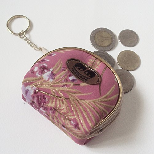 Agility Small Pink Coin Purses, Bags, Pouch with Keychain Handmade Accessory Souvenir