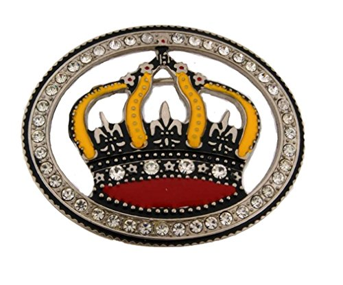 - Letter Love Fashion Emperor King Queen Prince Princes Belt Buckle Bling Hip Hop Iced Out Rhinestones
