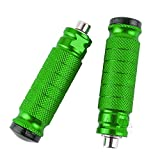 CNC Motorbike Rearset Footrests Footpeg Foot Pegs Pedals Universal For Motorcycle with M8 thread rear set (Green)