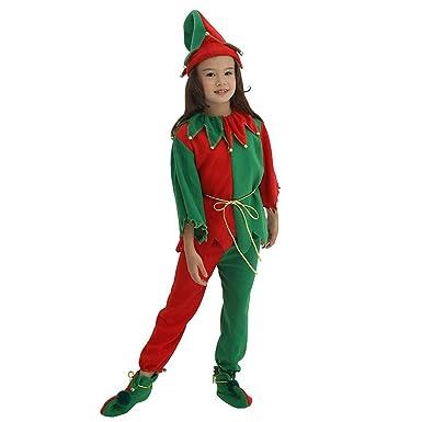 LPATTERN Disfraz de Elfo para Navidad Niños Disfraz de ...