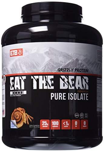 ETB Eat The Bear Grizzly Protein Pure Isolate, Cinnamon Bun, 5 Pound by Eat the Bear
