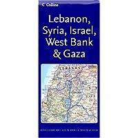 Reference Map – Lebanon, Syria, Israel, West Bank & Gaza