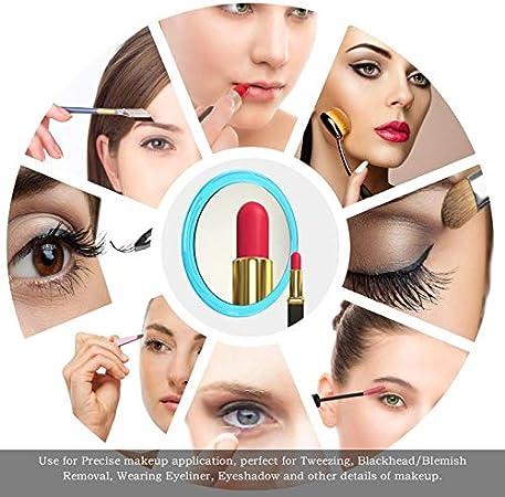 15cm,Miroir Grossissant 15X, Argent Epilation /& Elimination Des Points Noirs Et Taches. Miroir Grossissant 15X Avec 3X Ventouses Pour Maquillage