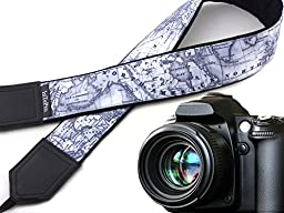 North America Camera Strap. Europe map camera strap. Padded camera strap DSLR. Shoulder strap by InTePro code 00275