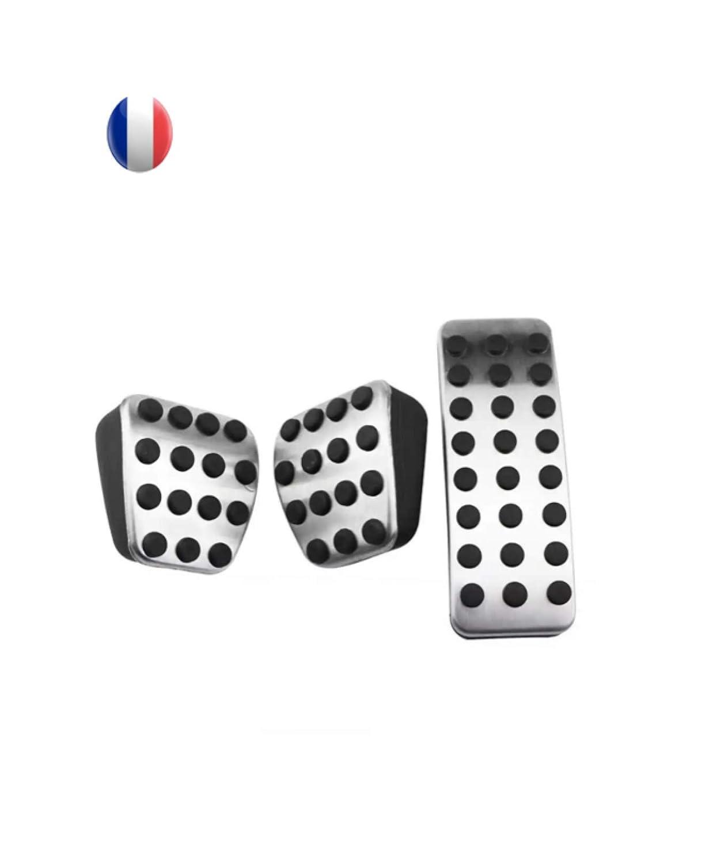 P/édale acc/él/érateur frein embrayage en acier inoxydable conducteur P/édale alu P/édalier pour voiture manuelle