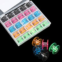 [Free Shipping] 25pcs Empty Colorful Plastic Sewing Machine Bobbins Spools Brother Babylock Singer // 25pcs colorido plástico bobinas de máquinas de coser ...