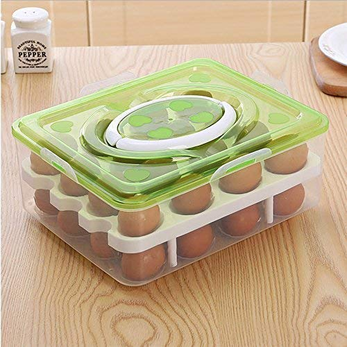 50% Off Deal – Plastic Double Layer Egg Box Container