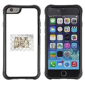"""Hypernova Defender Series TPU protection Cas Case Coque pour Apple Iphone 6 PLUS 5.5 [Felicidad Cita de motivación del arte""""]"""